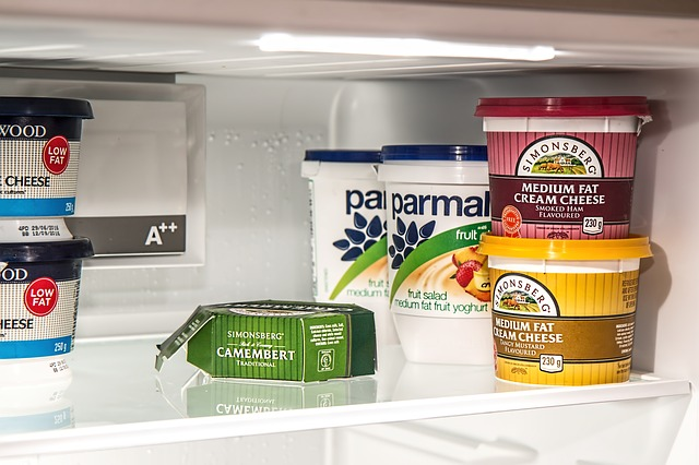 obsah ledničky