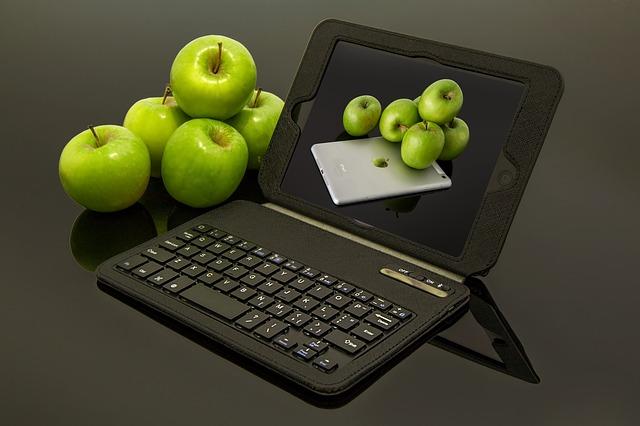 jablka s tabletem