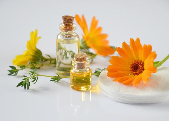 květiny a oleje