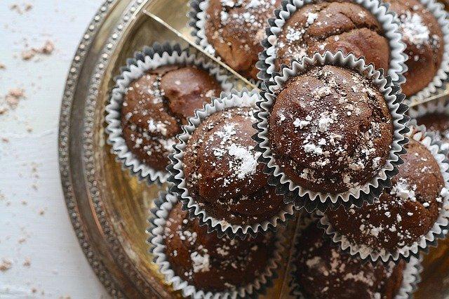 čokoládové mufffiny